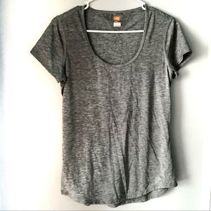 Lucy Athletic Gray Short Sleeve Boat Neck Tshirt